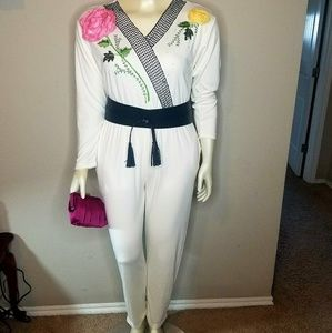 **SOLD**Vintage Lacy After Noon Jumpsuit